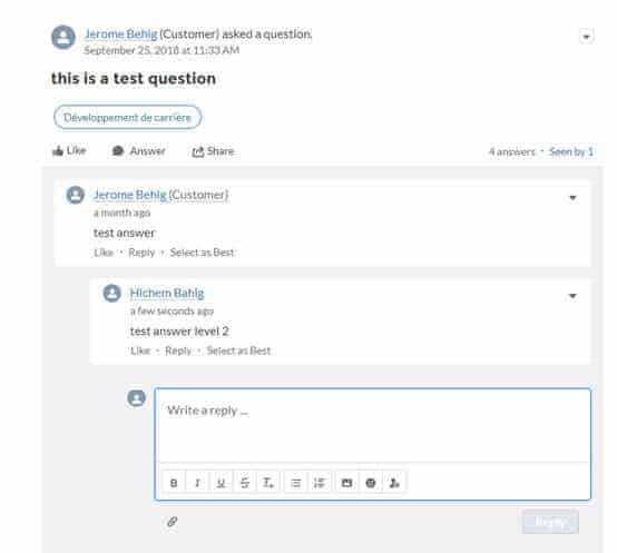 Salesforce Community Cloud Multi Level Thread