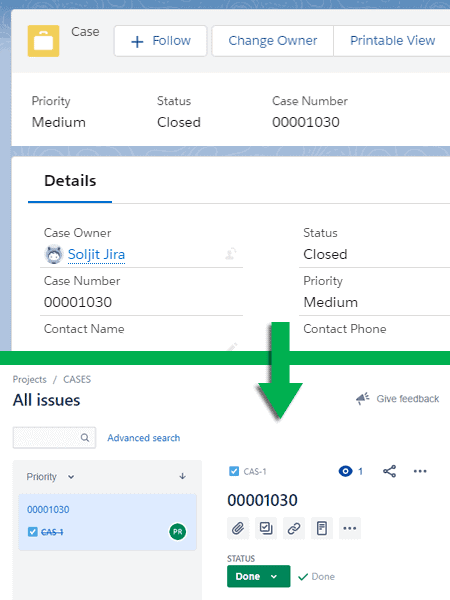 Salesforce - JIRA Connector - Case management