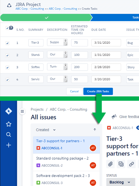 Salesforce-JIRA Connector - Create Issues from Products